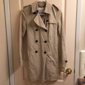 Aritzia Babaton khaki trench coat